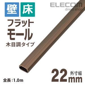エレコム 配線モール フラットモール 木目 幅22.0mm ┃LD-GAF2/WD