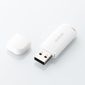 エレコム USBメモリ バリュータイプ USBメモリ 8GB ホワイト┃MF-HMU208GWH