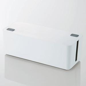 ケーブルボックス燃えにくい ケーブルボックス ホワイト 幅400mm ┃EKC-BOX001WH┃ ...