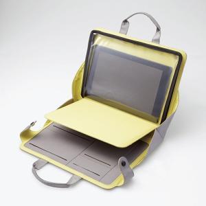 タブレットバッグ ブリーフケース 操作可能クリアポケット付 グレー 〜10.5インチ┃TB-10BM01GY アウトレット エレコムわけあり|elecom|03