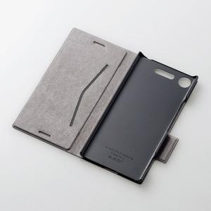 dd3d9ba634 ... エレコム XperiaXZ1(SO-01KSOV36)ケースUltraSlim手帳型ソフトレザーカバー薄型磁石