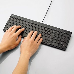 エレコム フルキーボード 軽量×薄型 有線 ブラック 1.5m┃TK-FCP097BK|elecom|04