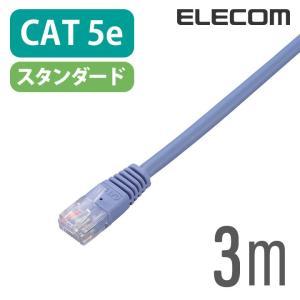 Cat5e準拠 LANケーブル ブルー 3m┃LD-CTN/BU3 エレコム
