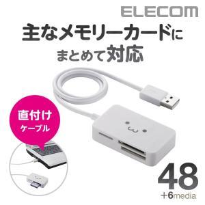 小型 メモリリーダライタ ホワイト┃MR-A39NWHF1 エレコム|elecom