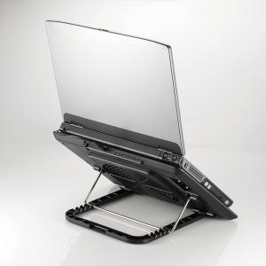 エレコム ノートPC用 クーラー (角度調節・強冷タイプ) 角度可変置き台 アルミ 大型ファン シルバー 15.4〜17インチ対応┃SX-CL22LSV|elecom|06