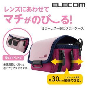 ミラーレス一眼カメラ用 ケース ピンク Sサイズ┃DGB-S022PN アウトレット エレコムわけあり
