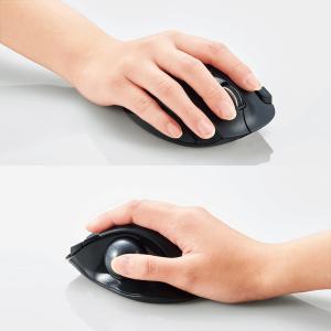 ワイヤレス トラックボール 5ボタン 無線 マウス(親指操作タイプ) ブラック Lサイズ┃M-XT2DRBK エレコム|elecom|06