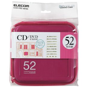 CD/DVD ファスナーケース (52枚収納) ピンク ┃CCD-H52PN エレコム|elecom|03
