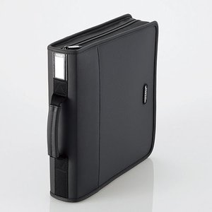 CD/DVD ファスナーケース (160枚収納) ブラック┃CCD-SS160BK エレコム elecom