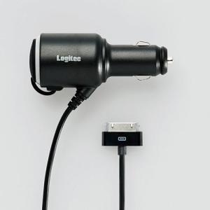 シガーソケット 電源 ロジテック iPad/iPhone用 シガーチャージャー シガーソケット付┃LPA-CCI02S アウトレット|elecom|02