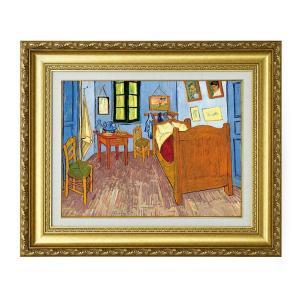 ゴッホ 作品 ファン・ゴッホの寝室 F6号 立体複製名画 絵画 額付き - アートの友社