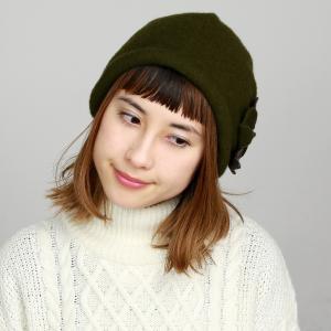 ふくれフード ギフト プレゼント 秋冬 ニット帽 婦人 上品 大人 女性 フード バスク 帽子 レディース 40代 50代 60代/モス|elehelm-hatstore