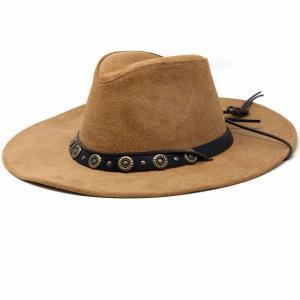 帽子 メンズ レザー ハット ヘンシェル 本革 カウボーイハット 乗馬 アメリカ製 渋色|elehelm-hatstore