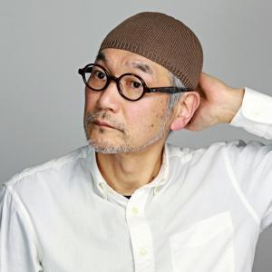 ニット帽 帽子 ニット メンズ LE MILIEU 綿麻ニット ショートワッチ モカ茶|elehelm-hatstore