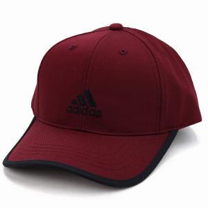 adidas キャップ ランニング アディダス 帽子 大きいサイズ ツイル  野球帽  スポーツ cap 赤 レッド|elehelm-hatstore