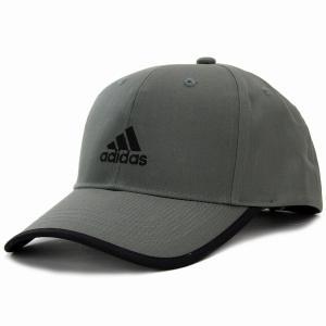 アディダス キャップ ランニング adidas 帽子 大きいサイズ ツイル  野球帽  スポーツ cap グレー|elehelm-hatstore
