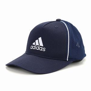 ツイル キャップ adidas  快適 帽子 メンズ オールシーズン メッシュキャップ スポーツ アディダス 大きいサイズ cap 紺 ネイビー×ホワイト|elehelm-hatstore