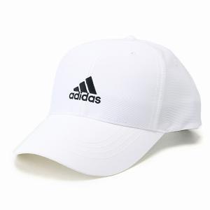 adidas 帽子 メンズ キャップ アディダス レディース 夏 春 秋 スポーツ ブランド 吸汗 速乾 ベースボールキャップ 57cm 60cm cap  白 ホワイト|elehelm-hatstore