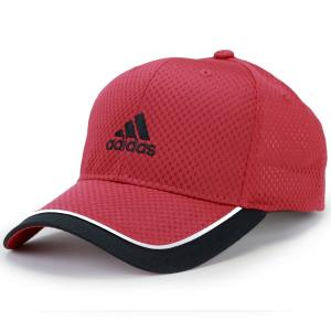 adidas  帽子 春夏 メッシュ キャップ メンズ レディース ベースボールキャップ スポーツ 大きい 野球帽 cap アディダス アクアホール ソアリオン 赤 レッド elehelm-hatstore