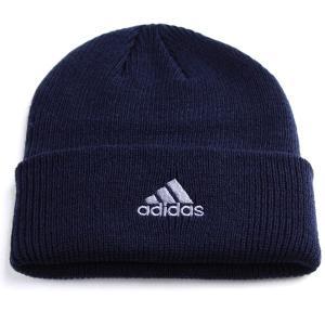 ニットワッチ 帽子 アディダス adidas cap ニット帽 折り返し メンズ ニット/ネイビー|elehelm-hatstore