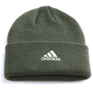 adidas cap 折り返し メンズ ニットワッチ 帽子 アディダス ニット帽 ニット/オリーブ|elehelm-hatstore
