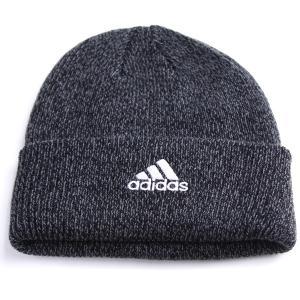 帽子 アディダス adidas cap 折り返し メンズ ニットワッチ ニット帽 ニット/チャコール|elehelm-hatstore