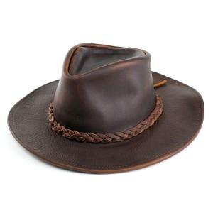 ハット メンズ 帽子 ヘンシェル レザーカウボーイハット アメリカ製 ブラウン|elehelm-hatstore