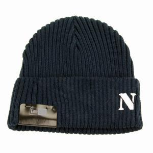ニット帽 ニューエラ NYC ミリタリー ステンシルプリント NEWERA メンズ ニットワッチ レディース ネイビー|elehelm-hatstore