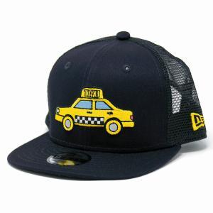 子供 帽子 ニューエラ NYC ニューヨーク タクシー イエローキャブ 帽子 キッズ NEWYORK NEWERA キッズ CAP CHILD 紺 ネイビー elehelm-hatstore