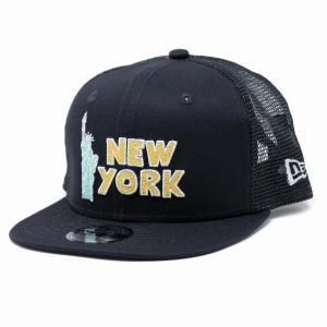 ニューエラ キャップ 子供 NYC 自由の女神 帽子 キッズ NEWYORK NEWERA キッズ CAP CHILD 紺 ネイビー elehelm-hatstore