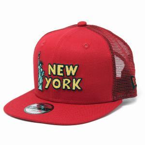 ニューエラ キャップ 子供 NYC 自由の女神 帽子 キッズ NEWYORK NEWERA キッズ CAP CHILD 赤 レッド elehelm-hatstore