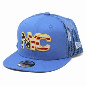 子供 キャップ ニューエラ NYC ニューヨーク アメリカ国旗 帽子 キッズ NEWYORK NEWERA CAP CHILD エアフォースブルー elehelm-hatstore