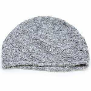 ニットワッチ 春夏 婦人 サマーニット ニット帽 室内着用可能 国産 ニット 綿 麻 スラブ 室内で使える 上品 レディース グレー elehelm-hatstore