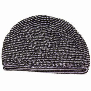 シルク 100% ボーダー ニットワッチ 国産 ニット 春夏 婦人 サマーニット ニット帽 室内着用可能 室内で使える 上品 レディース 帽子 グリーン系 elehelm-hatstore