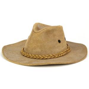 カウボーイハット 帽子 レザーハット ヘンシェル テンガロンハット バックスキン調 ウエスタン タン ベージュ|elehelm-hatstore