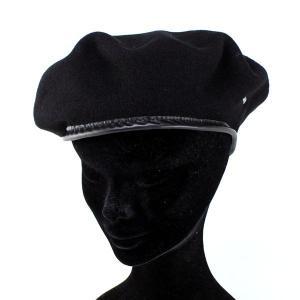ベレー帽 アーミーベレー カンゴール バスク イギリス ヨーロッパカジュアル 帽子 ベレー ブラック|elehelm-hatstore