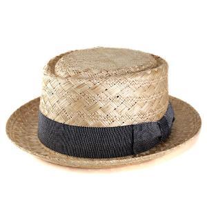 ストローハット 帽子 メンズ ハット レディース ポークパイハット ベイリー バオ ココヤシ VADIS ナチュラル|elehelm-hatstore