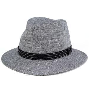 ハット 麻 春夏 リネン つば広 オールダウンブリム メンズ 帽子 カシュケット シャークスキン KASZKIET 黒 ブラック