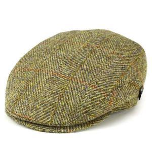 ハンチング 帽子 メンズ カシュケット ハリスツイード ハンチング帽 秋冬 ウール インポート KASZKIET イエロー系