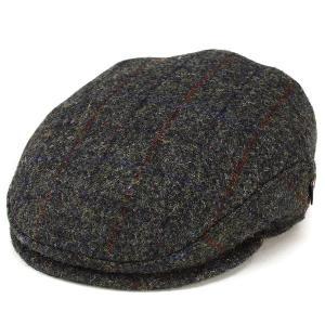 ハンチング 帽子 メンズ カシュケット ハリスツイード ハンチング帽 秋冬 ウール インポート KASZKIET チャコールグレー系