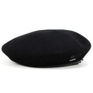 ベレー 夏 サマーニット 帽子 アーミーベレー モンティー カンゴール kangol 涼しくお洒落 TROPIC MONTY 黒 ブラック|elehelm-hatstore