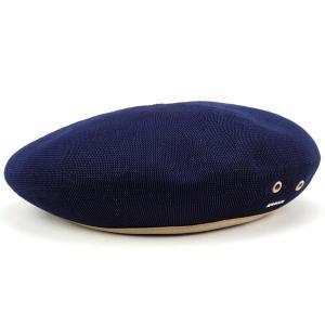 ベレー 夏 サマーニット 帽子 アーミーベレー モンティー カンゴール kangol 涼しくお洒落 TROPIC MONTY 紺 ネイビー|elehelm-hatstore
