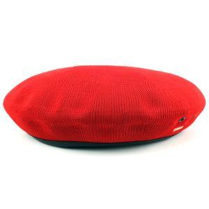 ベレー 夏 サマーニット 帽子 アーミーベレー モンティー カンゴール kangol 涼しくお洒落 TROPIC MONTY 赤 レッド SCARLET|elehelm-hatstore