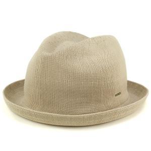 帽子 ハット 夏 春 KANGOL 中折れハット メンズ サマーニット ハット TROPIC PLAYER ベージュ|elehelm-hatstore