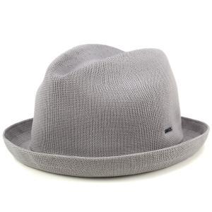 帽子 ハット 夏 春 KANGOL 中折れハット メンズ サマーニット ハット TROPIC PLAYER グレー|elehelm-hatstore