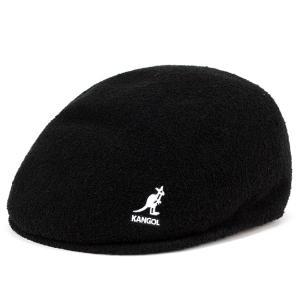 ハンチング メンズ 帽子 カンゴール パイル地 タオル地 アイビーキャップ kangol BERMUDA 575 黒 ブラック|elehelm-hatstore
