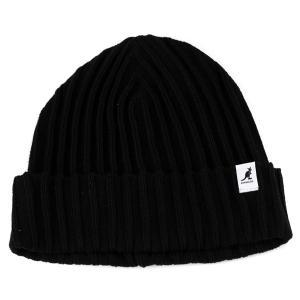 帽子 メンズ ニット帽 カンゴール KANGOL シンプルニットワッチ コットン 夏もかぶれる 黒 ブラック|elehelm-hatstore