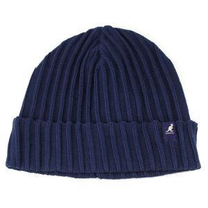 帽子 メンズ ニット帽 カンゴール KANGOL シンプルニットワッチ コットン 夏もかぶれる 紺 ネイビー INK|elehelm-hatstore