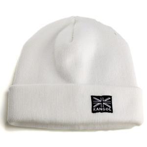 ニット帽 ワッチ 帽子 カンゴール KANGOL アクリル ニット 肉厚 ストリートカジュアル ファッション ホワイト|elehelm-hatstore
