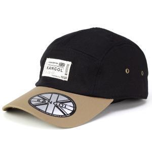 キャップ メンズ カンゴール ブランド ジェットキャップ ストリート コットン ヘリンボーン バイカラー 2トーン 黒 ブラック|elehelm-hatstore